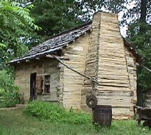 Replica of the Lincoln Boyhood Cabin in Southern Indiana